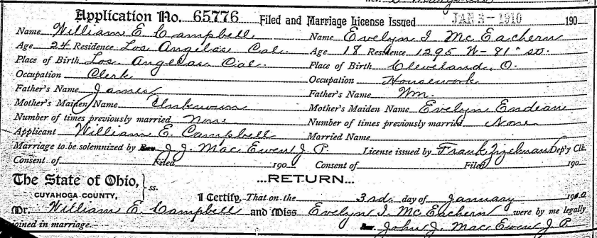 Campbell-McEachern Marriage