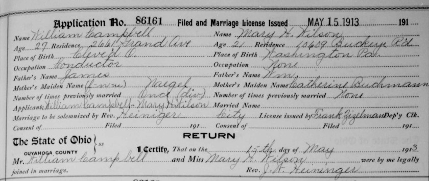Campbell-Wilson Marriage