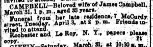 Mary C. (Nagle) Campbell Funeral Notice