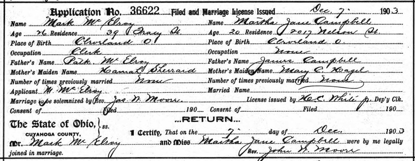McElroy-Campbell marriage